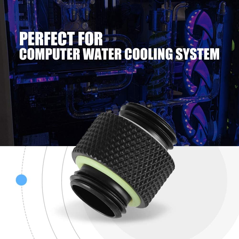 Water Tube Connector Adapter for Computer Water Cooling System Short Wendry 2pcs G1//4 Thread Fitting Adapter Connector
