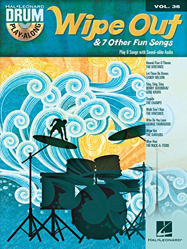 Fun Songs Set (Wipe Out & 7 Other Fun Songs: Drum Play-Along Volume 36 (Hal Leonard Drum Play-Along))