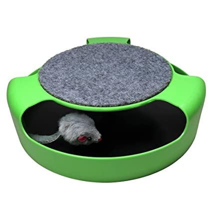 Douges Cat Toy Scratcher with Turbo Mouse