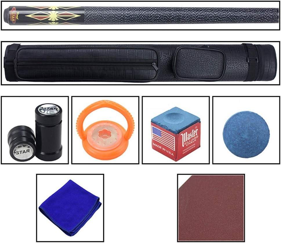 ZXHプールキュー、手作りメープルナインクラブ16色スヌーカーキュー13 mmチップ1/2スプリットビリヤード付きロッドケース #3