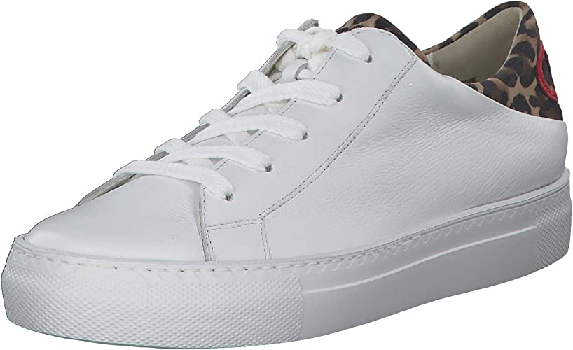 Leather Womens Lace Up Trainer Shoes