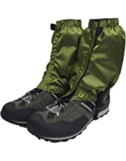 Hiking gaiters for outdoor, camping, running, walking, backpacking, women, men, ankle, leg guard, bootlegging gaiter, cover, snow, breathable, lightweight, waterproof, durable wrap mountain hunting climbing.