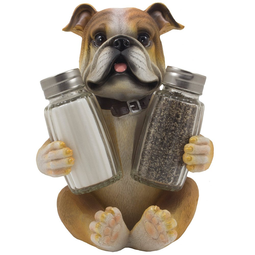 Excellent Amazon.com: Bulldog Salt & Pepper Shaker Set Statuette with  QD85