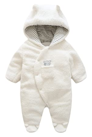 9e2692b46 BANGELY Newborn Baby Winter Thicken Cartoon Sheep Snowsuit Warm Fleece  Hoodie Romper Size 0-3
