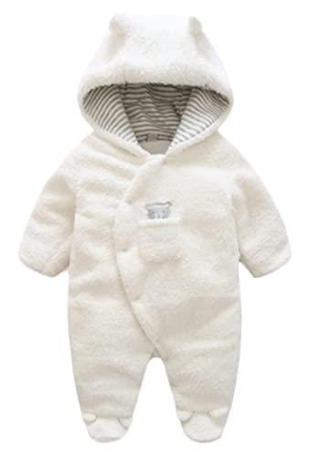 BANGELY Newborn Baby Winter Thicken Cartoon Sheep Snowsuit Warm Fleece Hoodie Romper