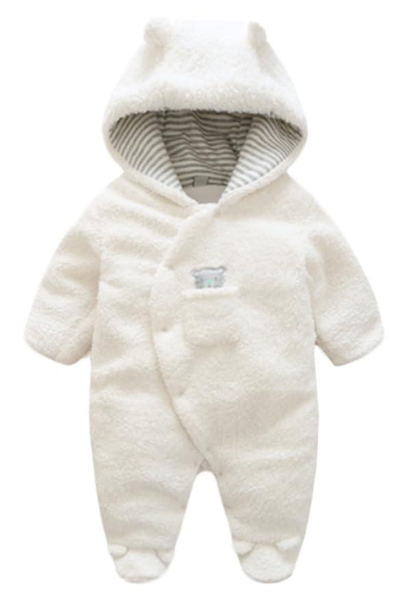 8d399c9fda298 BANGELY Newborn Baby Winter Thicken Cartoon Sheep Snowsuit Warm Fleece  Hoodie Romper
