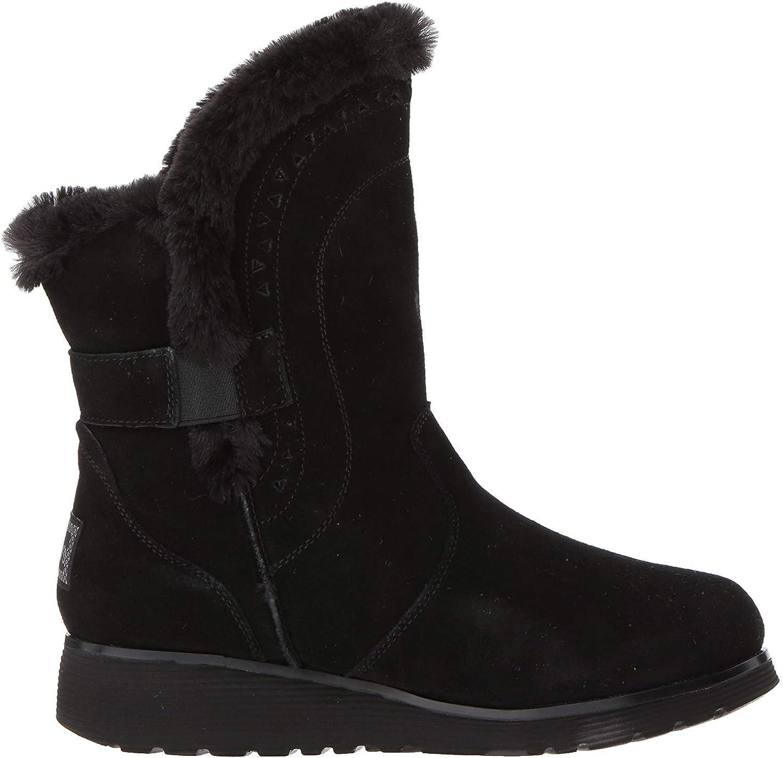 Skechers Women's Keepsakes Wedge Cozy Peak Mid Calf Boot Black