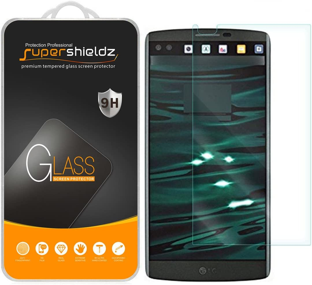 Supershieldz (2 Pack) for LG V10 Tempered Glass Screen Protector, Anti Scratch, Bubble Free