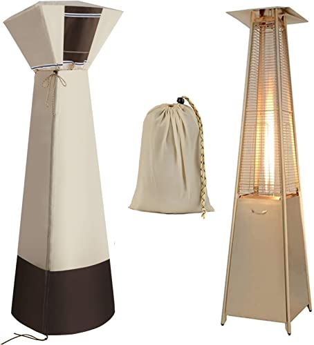 KREVEROY Outdoor Square Standup Patio Heater Cover Water-Resistant Heavy Duty Oxford Fabric