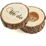 SeaISee wedding ring box , wedding ring bearer , wedding box for rings , Rustic Ring Box