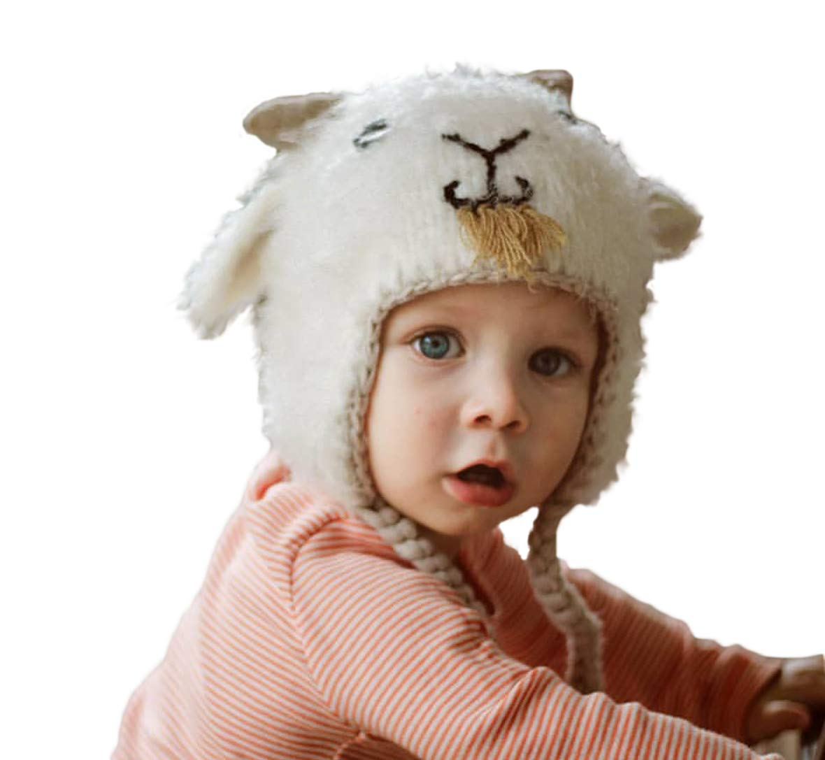Huggalugs Baby and Toddler Boys or Girls Billy Goat Beani Hat M by Huggalugs