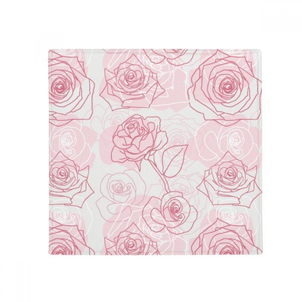 DIYthinker Hand Painted pink Flower Plant Anti-Slip Floor Pet Mat Square Home Kitchen Door 80Cm Gift
