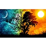 Blxecky 5D DIY Diamond Painting ,By Number Kits Crafts & Sewing Cross Stitch,Wall stickers for living room decoration,Starry sky(30X45CM/12X18inch)