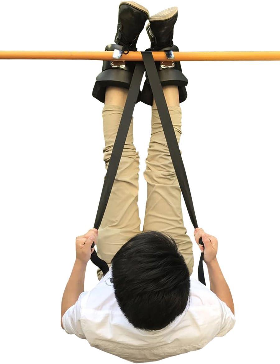 Latinaric Schwarz Fitness Anti Schwerkraft Schuhe H/ängeschuhe Gravity Boots mit ein Zughilfen Band