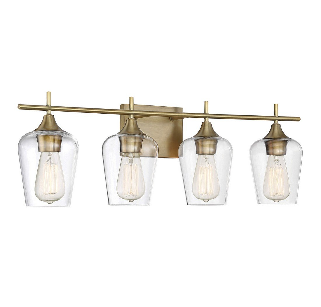 Savoy House Octave 4 Light Bath Bar 8-4030-4-322 in Warm Brass by Savoy House (Image #2)