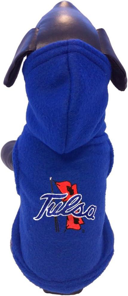 Tiny NCAA Tulsa Golden Hurricane Polar Fleece Hooded Dog Jacket