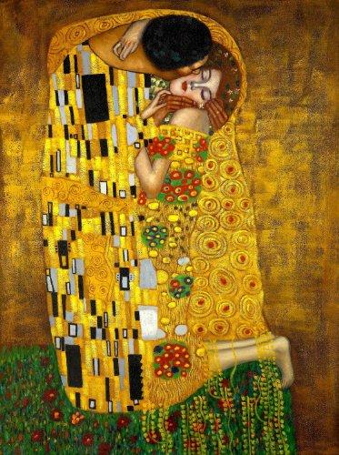 Gustav Klimt - The Kiss, Size 18x24 inch, Poster art print wall dcor