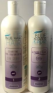 Cirugía Capilar Blue Hair 2 pasos (16 Oz) 473 ML SHAMPO-ALISADOR