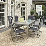 Home Styles 5700-3155 South Beach Rectangular 7 Piece Outdoor Dining Table with 6 Chairs