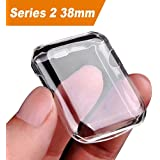Apple watch 2 case, Julk i watch tpu screen protector all-around protective 0.3mm hd clear ultra-thin cover for 2016 new apple watch series 2 (38mm)