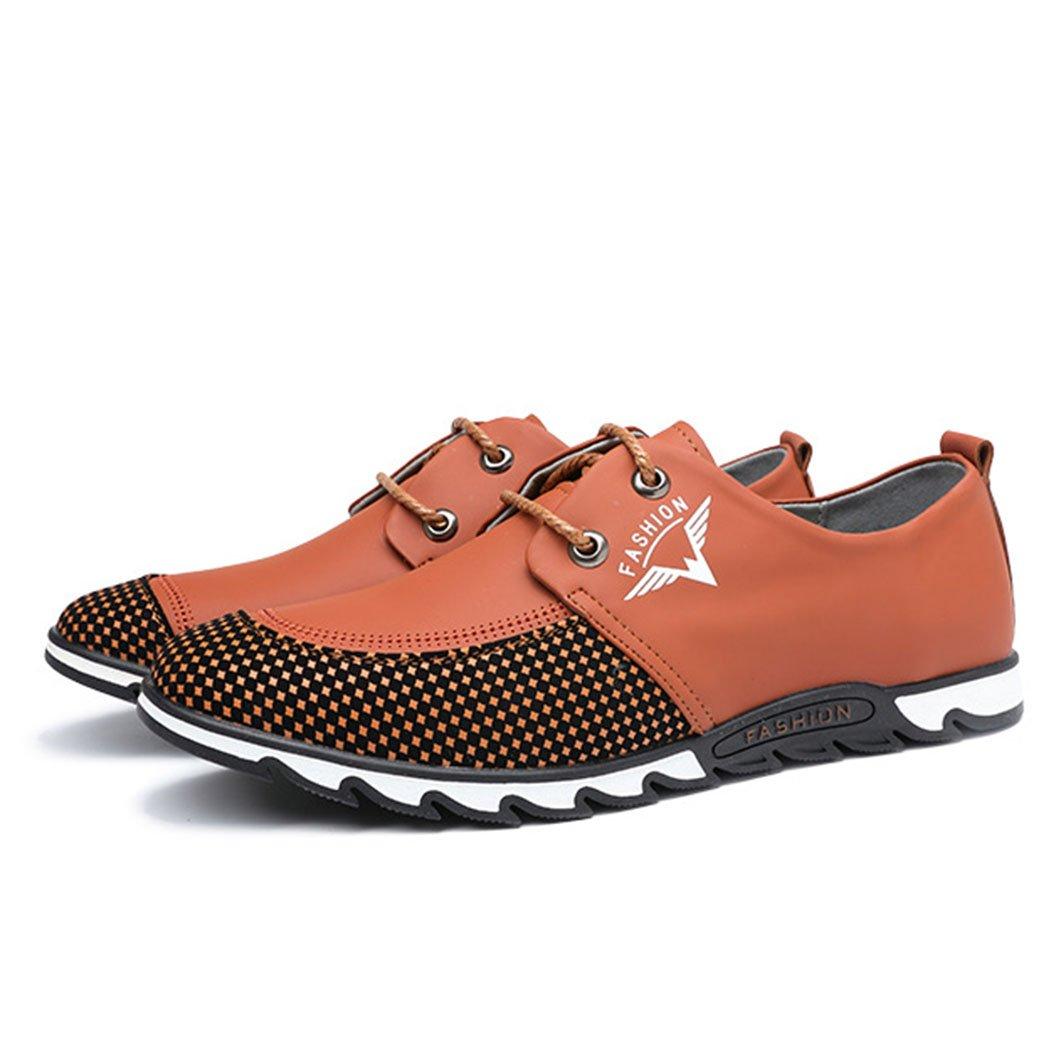 GAOLIXIA Zapatos Ocasionales de los Deportes de los Hombres Zapatos Ocasionales Respirables del Verano Cuatro Zapatos de Trabajo de Las Estaciones (Color : Amarillo, Tamaño : 42 EU) 42 EU Amarillo