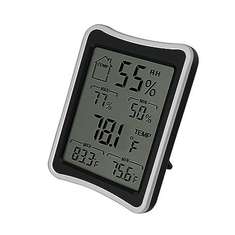 hotloop Digital Thermo higrómetro termómetro y humedad Monitor para uso en interiores y exteriores. Medidas
