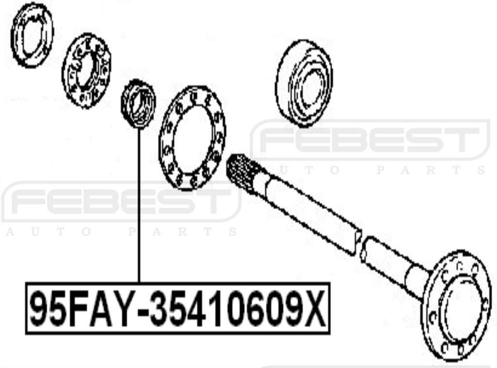 wheel hub 95FAY-35410609X FEBEST Seal