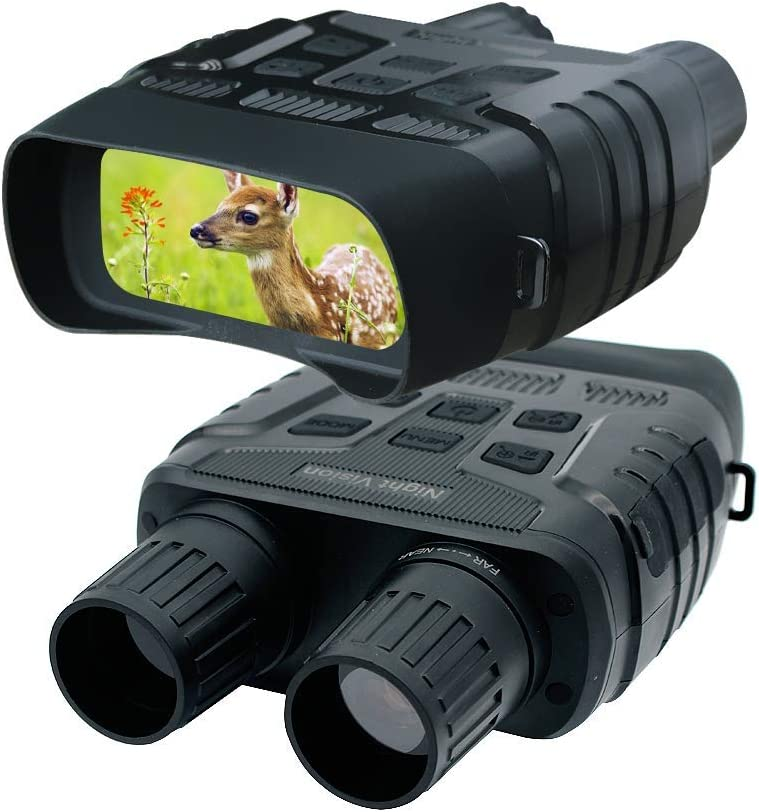 """GoldPaddy Digital Infrared Night Vision Binoculars Scope for 100% Darkness with 2.31"""" TFT LCD and 300m View Range Record HD Image & 720p Video for Hunting and Wildlife Monitoring"""