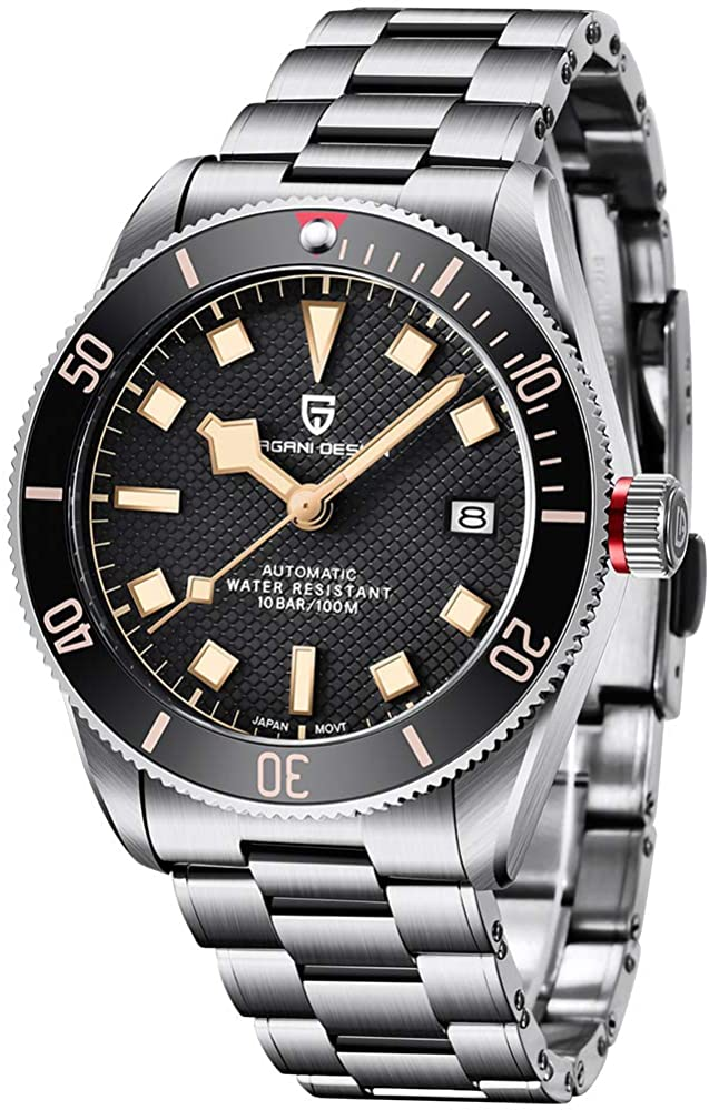 Pagani Design Black Bay 58 Men's Automatic Watch Business Machanical Wristwatch Men's...