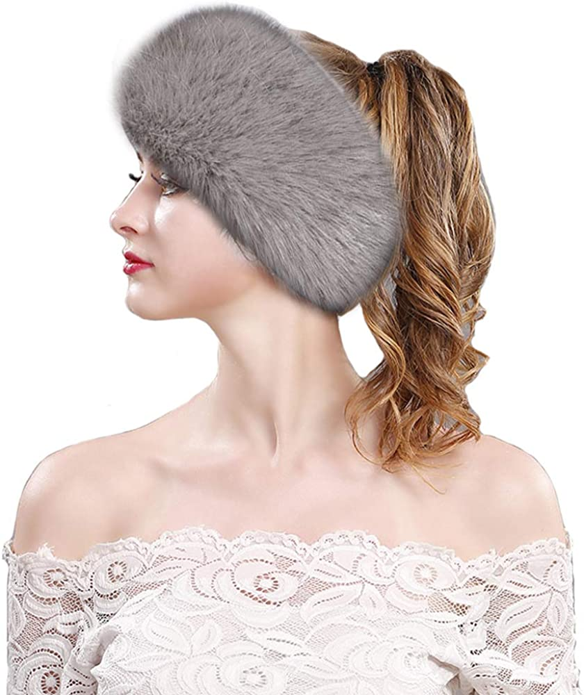 Rcbadress Women's Faux Fur...