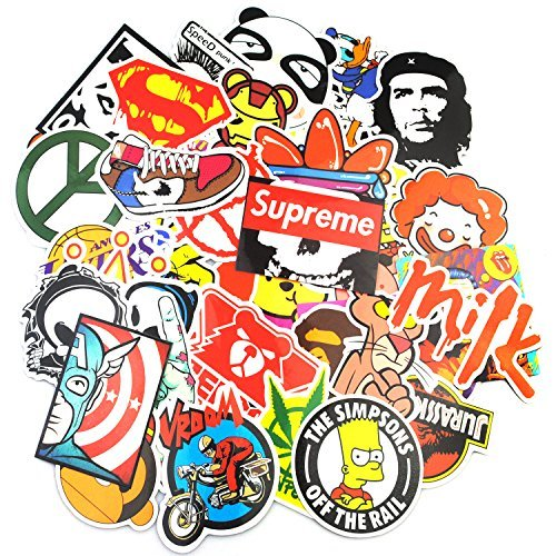 Sticker Pack (200-Pcs), Secret Garden Graffiti Sticker Decals Vinyls for Laptop,Kids,Teens,Cars,Motorcycle,Bicycle,Skateboard Luggage,Bumper Stickers Hippie Decals bomb Waterproof