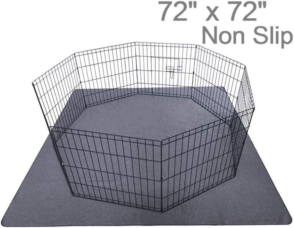"""Upgrade Non-Slip Dog Pads Extra Large 72"""" x 72"""", Washable Puppy Pads with Fast Absorbent, Reusable, Waterproof for Training, Travel, Whelping, Housebreaking, Incontinence, for Playpen, Crate"""