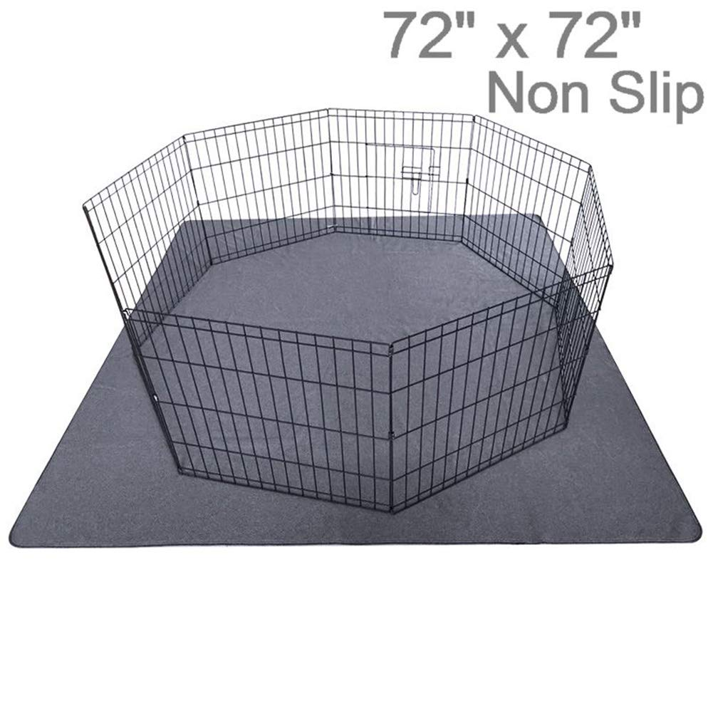 Upgrade Non-Slip Dog Pads Extra Large 72'' x 72'', Washable Puppy Pads with Fast Absorbent, Reusable, Waterproof for Training, Travel, Whelping, Housebreaking, Incontinence, for Playpen, Crate by Peepeego