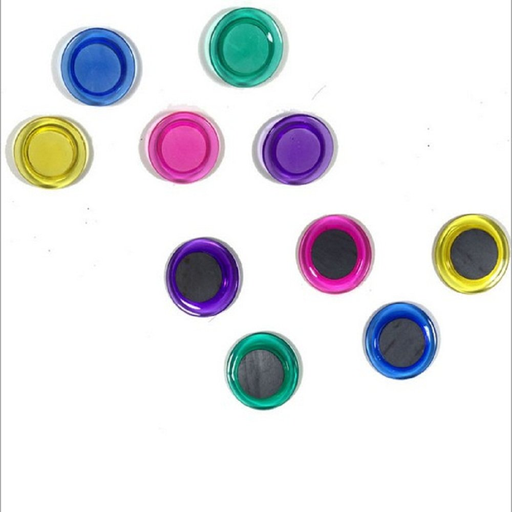 30 Pcs Assorted Color 30mm Round Presentation Whiteboard Magnet Button Good done