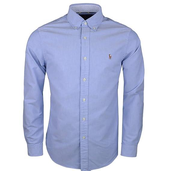 Ralph Lauren - Camisa Casual - Chaqueta - para Hombre Azul L: Amazon.es: Ropa y accesorios