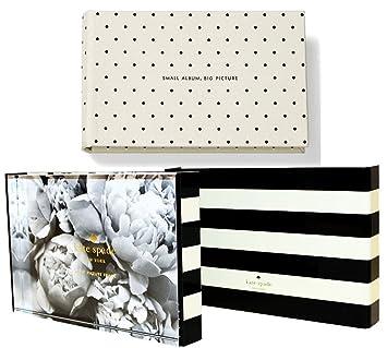 kate spade new york wedding photo album and black stripe photo frame