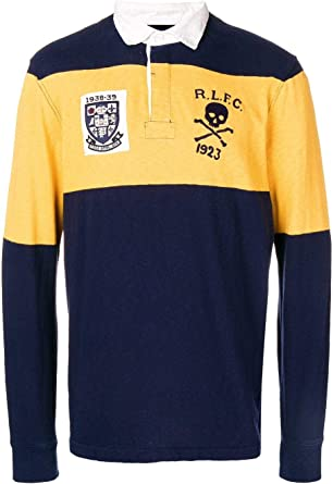 Ralph Lauren Punto Polo Rugby Patches Hombre M Cruise Navy/Gold Bugle: Amazon.es: Ropa y accesorios