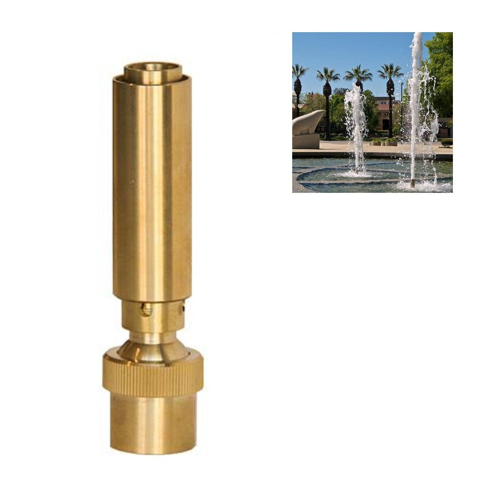 NAVADEAL 1 1/2'' DN40 Brass Geyser Water Fountain Nozzle Spray Pond Sprinkler - For Garden Pond, Amusement Park, Museum, Library