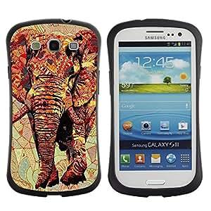"Hypernova Slim Fit Dual Barniz Protector Caso Case Funda Para SAMSUNG Galaxy S3 III / i9300 / i747 [Arte Africa Red Majestic Jungle""]"
