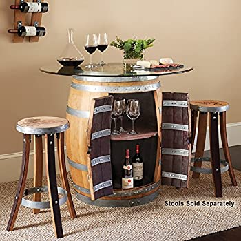 Wine Barrel Pub Table #17438 by Evans Wine Barrel Furniture