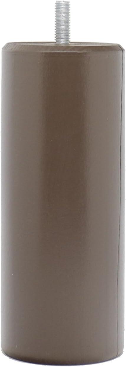 La Fabrique de Pieds Jeu de 4 Pieds de Lit Laqu/é Anthracite Bois 15 x 7 x 7 cm