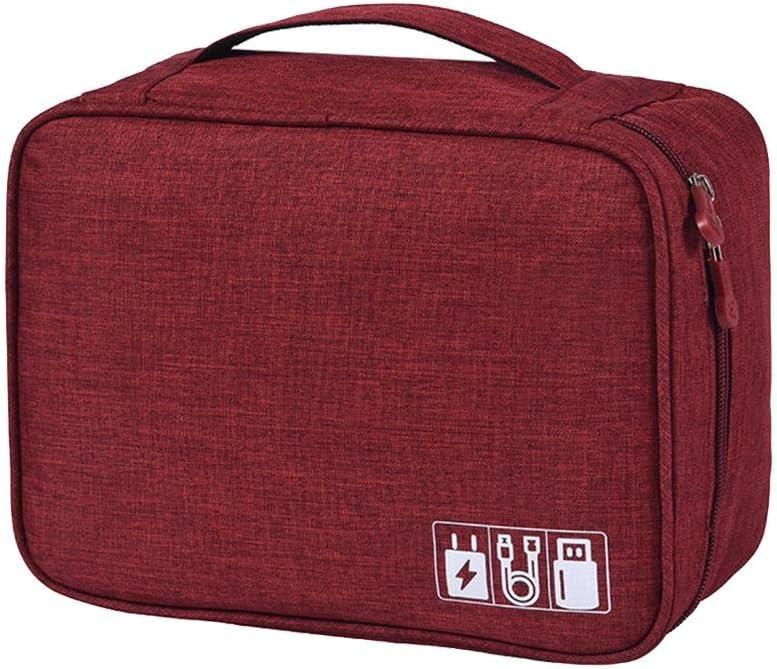 Joyfeel buy Cable Organizer Bag Electronics Accessories Organizer Bag Travel Gadget Bag Waterproof Storage Bag for Power Bank Charger Deep Blue