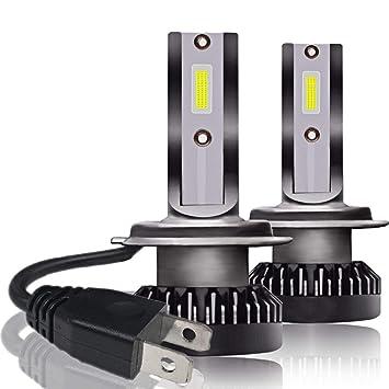 2 bombillas LED H1 de 800 W 32000 lm, kit de conversión de faros delanteros LED, bombillas de haz de coche 6000 K superbrillantes: Amazon.es: Coche y moto