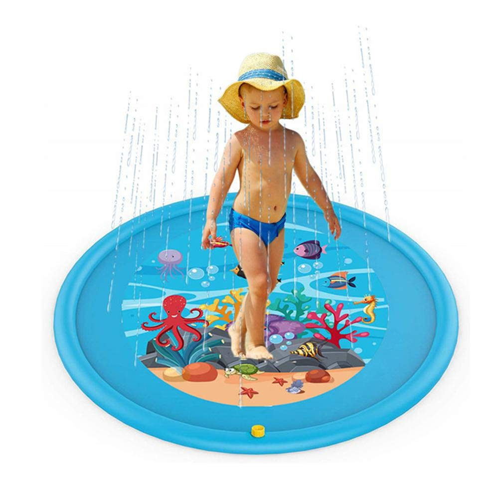 Sprinkler for Kids and Splash Play Mat, Children's Wading Pool, Backyard Games Summer Outside Water Toy, for Boys and Girls, 67''