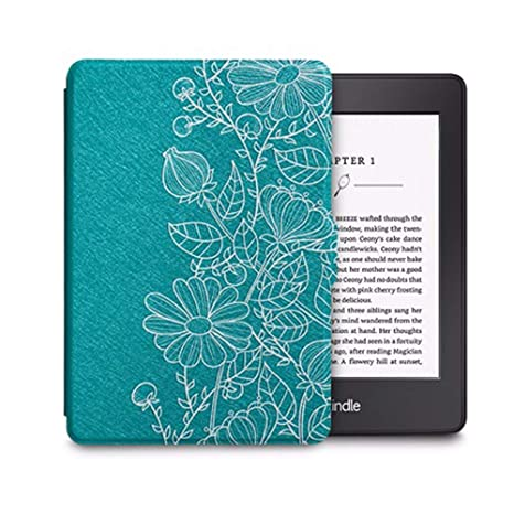 WDBHTAO Funda Kindle Luz PU Funda De Cuero para Amazon Kindle ...