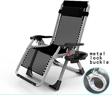 ZCJB Chaise Pliante Chaise Longue Bureau Pause Déjeuner