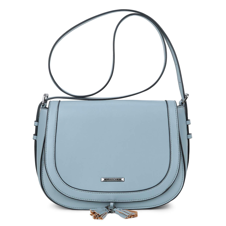 d4c7453ebf6 ECOSUSI Women's Saddle Bag Purses Crossbody Shoulder Bag with Flap Top &  Tassel
