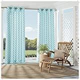 Parasol 15932052095TUQ St Kitts 52-Inch by 95-Inch Indoor / Outdoor Single Window Curtain Panel, Turquoise For Sale