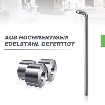 AIEVE Angle Wrench Herramienta de reemplazo de reparación de llaves de 4 mm Compatible con la cafetera Nespresso AEG Jura DeLonghi
