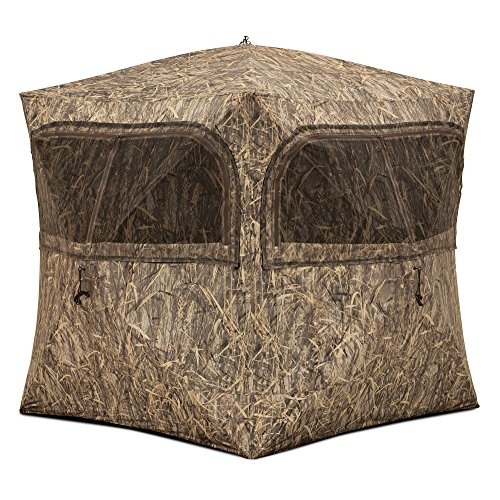 (Barronett Grounder Ground Hunting Blind, 3 Person Pop Up Portable, Blades Camo)